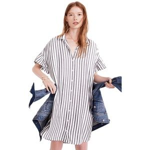 Madewell • NWOT Stripe Ruffle Sleeve Courier Dress